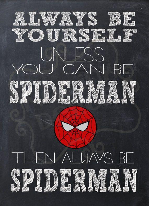 Always Be Spiderman Instant Download Art Print by ModInkDesign, $4.00