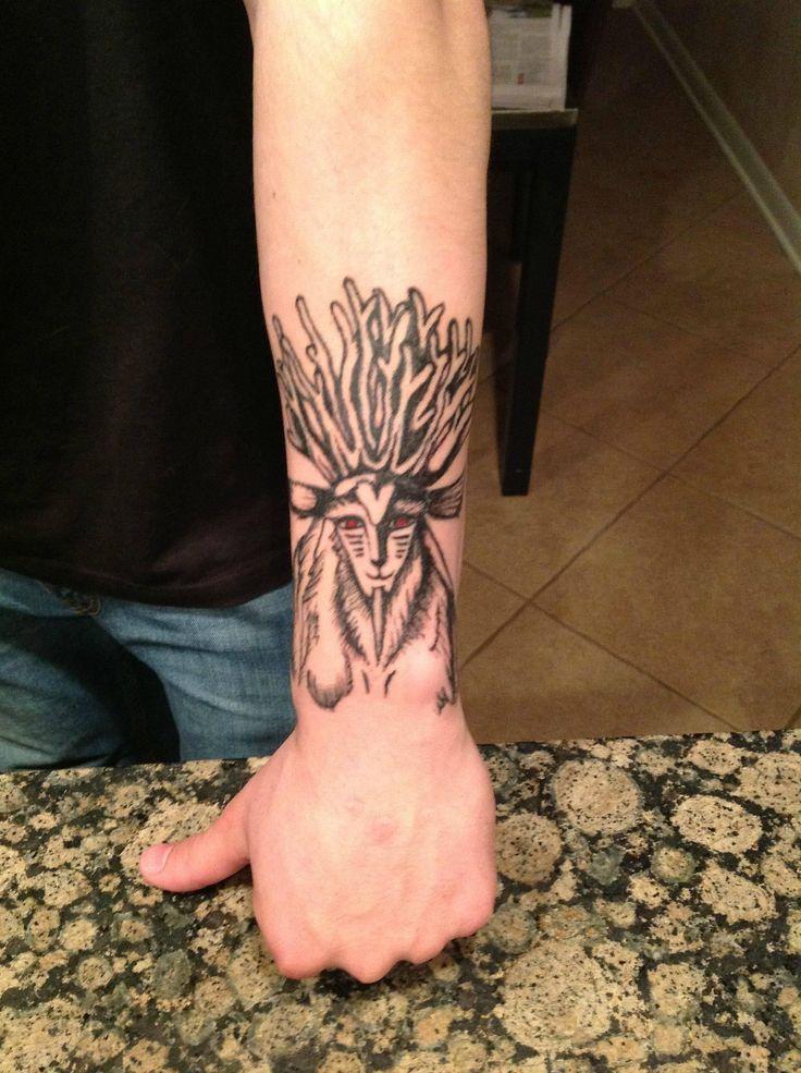 Princess Mononoke Forest Spirit Tattoo