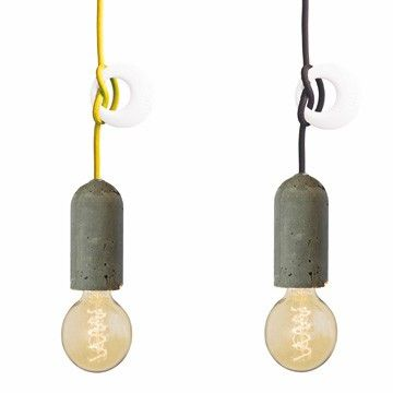 Design Hanglampen NUD Collection cement (zwart) I HAPPY MARKET