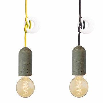 Design Hanglampen NUD Collection cement (zwart) I HAPPY MARKET