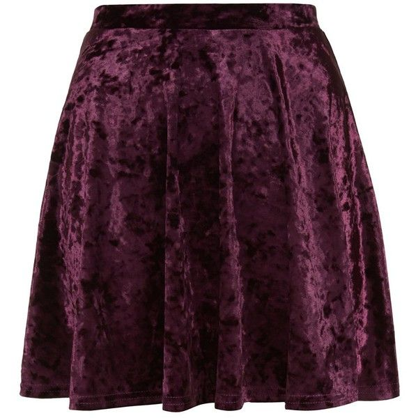 Teens Burgundy Velvet Skater Skirt ❤ liked on Polyvore featuring skirts, purple skater skirt, velvet circle skirt, velvet skirt, burgundy velvet skirt and burgundy skirt