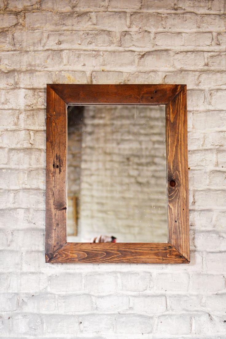 Homemade Rustic Picture Frames Best 25 Handmade Framed Mirrors Ideas Only On Pinterest