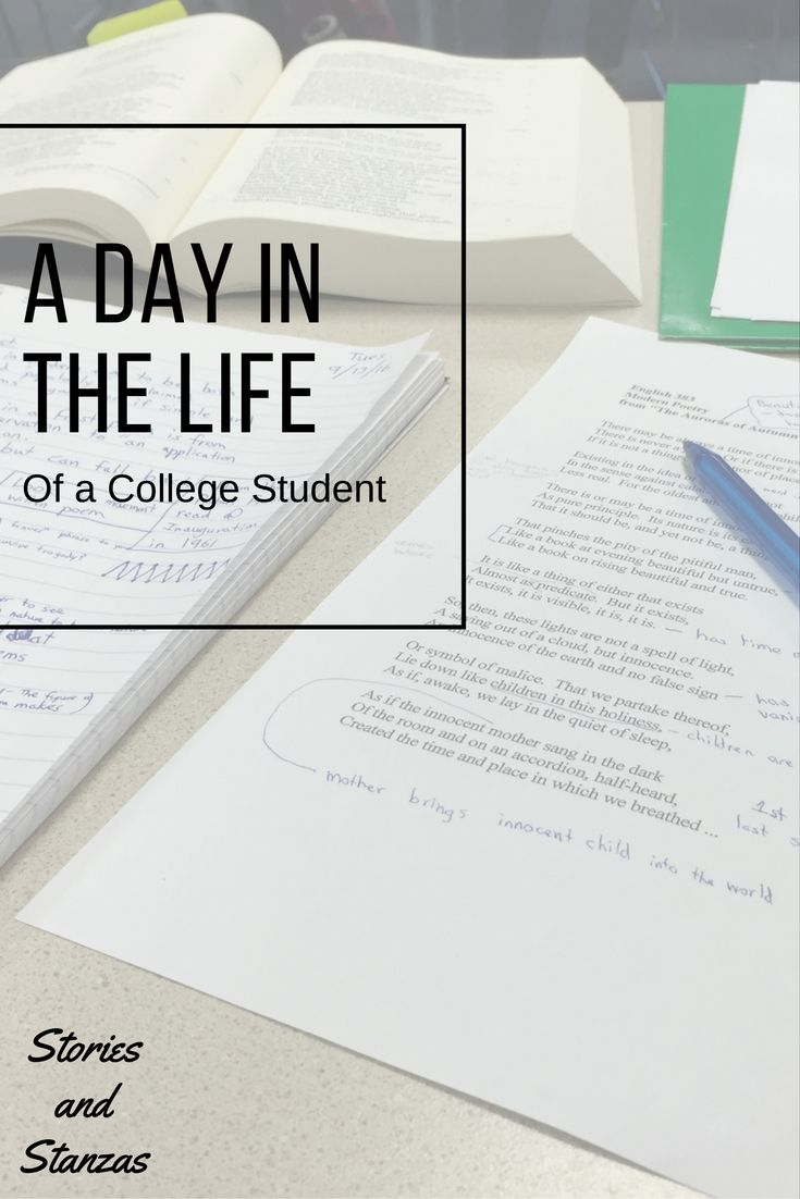 A Day in the Life of a College Student - Stories and Stanzas