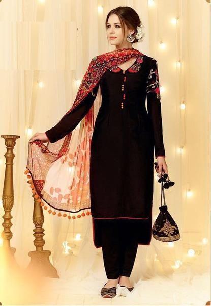 LadyIndia.com # Dress Material, Vg Creation Exclusive Cotton Black Salwar Suit, Salwar Suit, Dress Material, https://ladyindia.com/collections/ethnic-wear/products/vg-creation-exclusive-cotton-black-salwar-suit