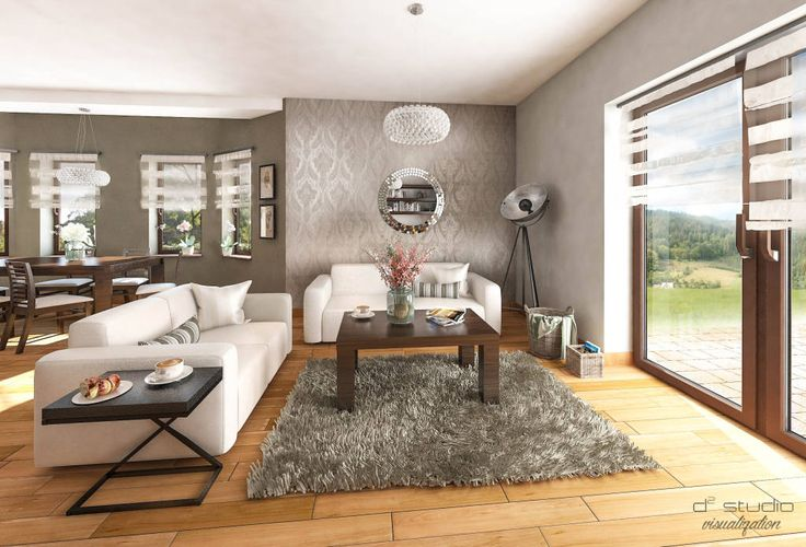 Salon klasyczny z kuchnią / CLASSIC LIVING ROOM with KITCHEN (do D2 Studio)