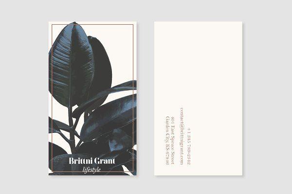 Botanical Business card Template - Business Cards