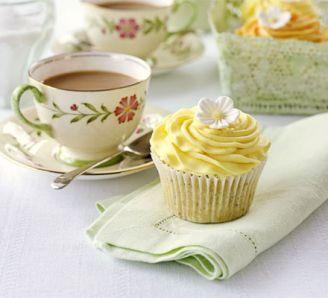 Lemon & Poppyseed Cupcakes Recipe, made with yogurt