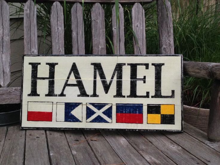 Custom Nautical Flag Name wooden sign - personalized nautical flag sign, nautical sign, nautical wedding gift, personalized name by Seagate8Studio on Etsy https://www.etsy.com/listing/188093833/custom-nautical-flag-name-wooden-sign