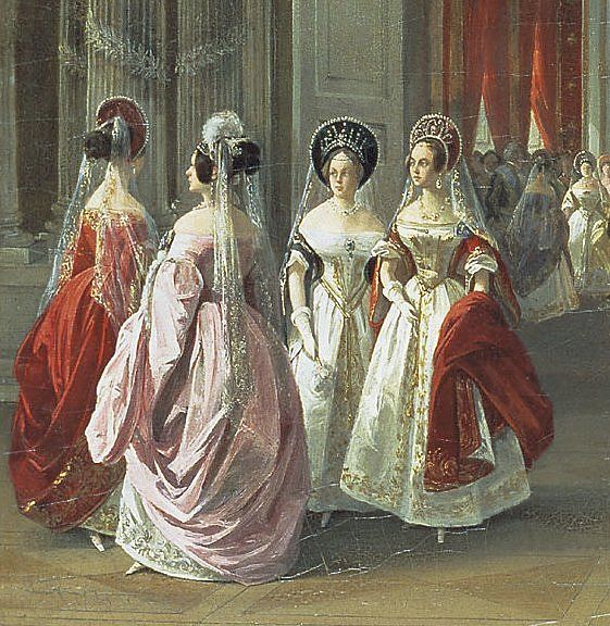 """Ladies from the Blazon Room of the Winter Palace"", by Adolphe Ladurner; 1838."