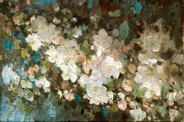 """Tabloul """"Flori de măr"""" al lui Nicolae Grigorescu, vândut cu 55.000 de euro la o licitaţie de Mărţişor"""
