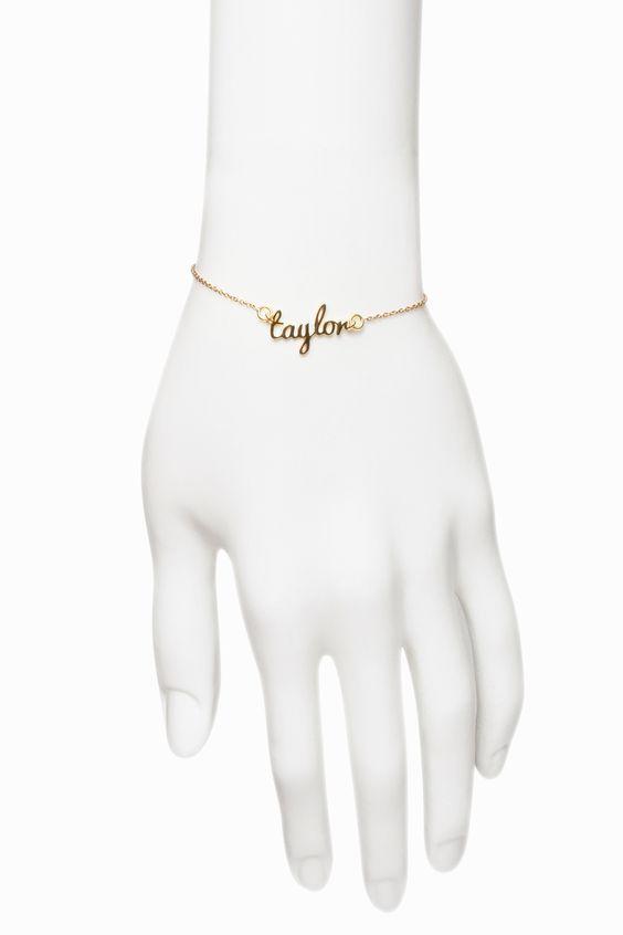 Freshfiber Hashtag Name Bracelet Casted in Solid 18K Gold   From Freshfiber.com