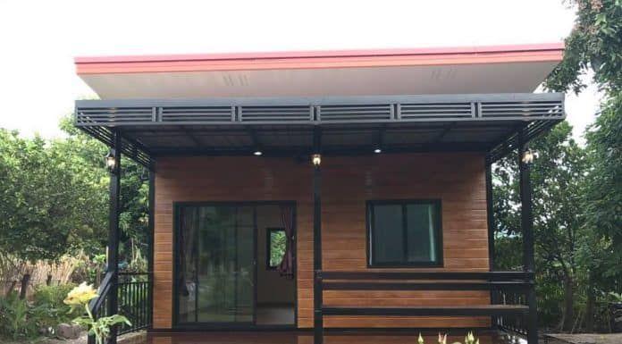 บ านน อคดาวน ขนาด 5 5 5 เมตร 2 นอน 1 โถง ราคา 280 000 บาท ออกแบบบ าน บ านโมเด ร น บ านในฝ น