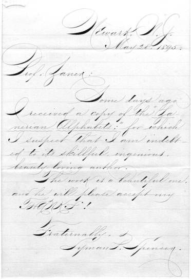 17 Best Images About Spencerian Handwriting On Pinterest