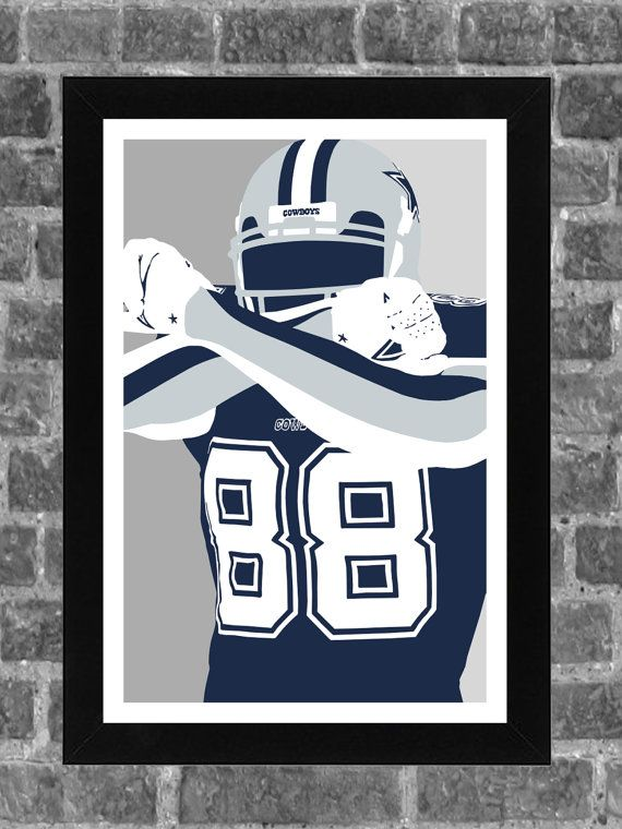 Dallas Cowboys Dez Bryant Portrait Sports Print Art 11x17