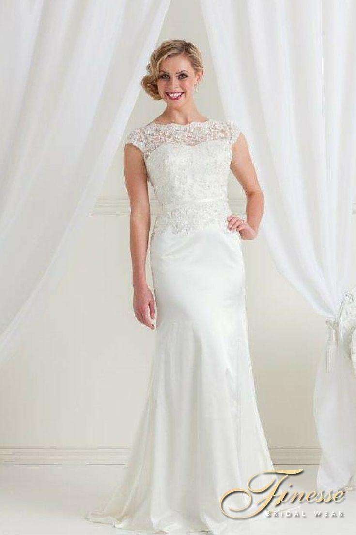 Gorgeous Slinky Style Wedding Gown