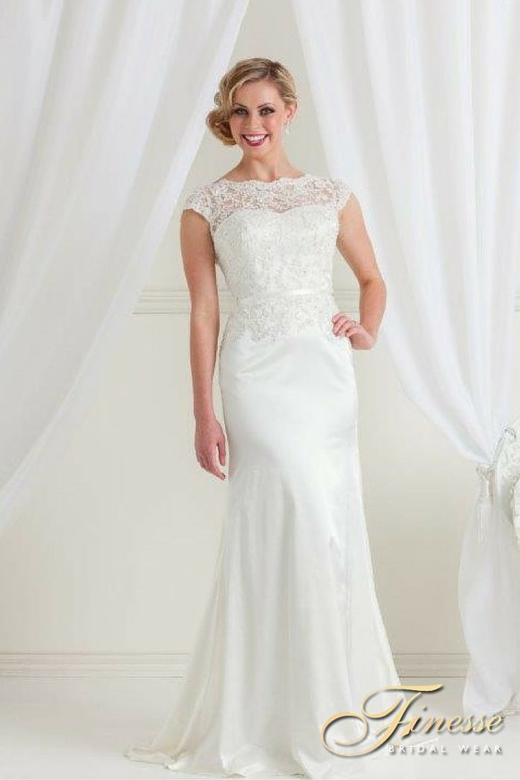 Gorgeous Slinky Style Wedding Gown - Call Finesse Bridal Wear in Listowel, Co Kerry