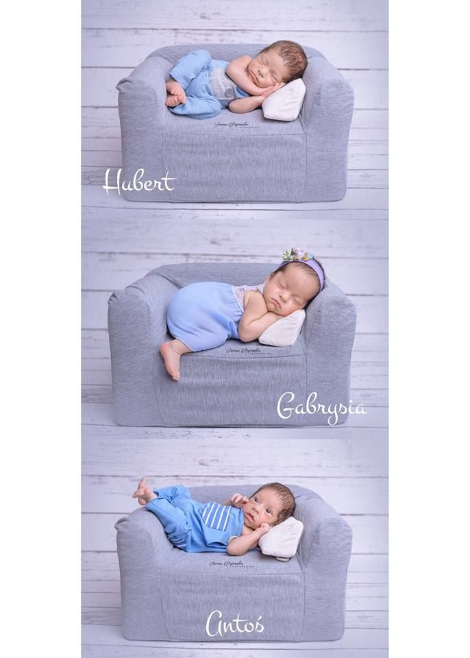 triplets on mini couch Newborn x3 :) Słodkie trojaczki na naszej mini kanapie. #trojaczki #triplets #newbornphoto #newborn #session #photo #inpiration