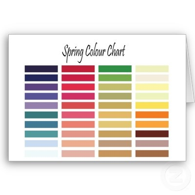 Spring type colour chart