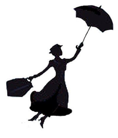 How to make a stencil. Mary Poppins Stencil - Step 1