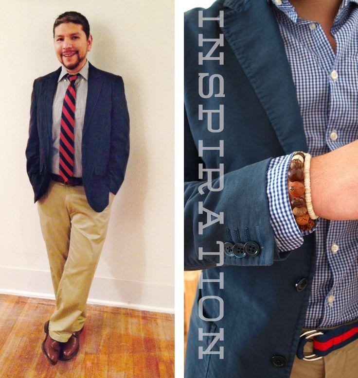 White Shirt Red Tie Khaki Pants The