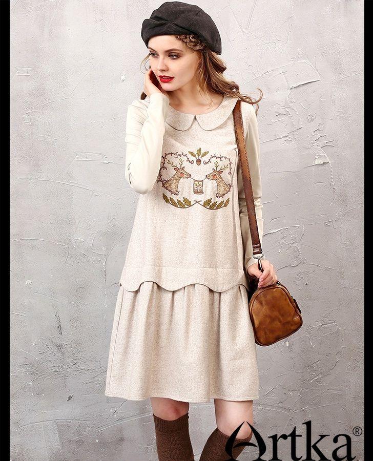 Купить платье с отложным воротником
