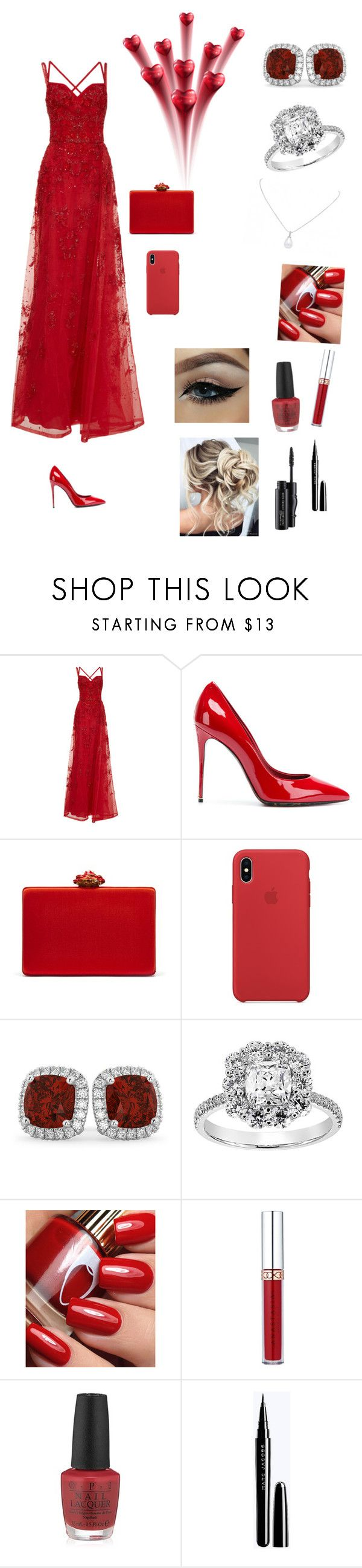 """Untitled #965"" by kaitlinlintz ❤ liked on Polyvore featuring Elie Saab, Dolce&Gabbana, Oscar de la Renta, Allurez, Anastasia Beverly Hills, OPI and MAC Cosmetics"