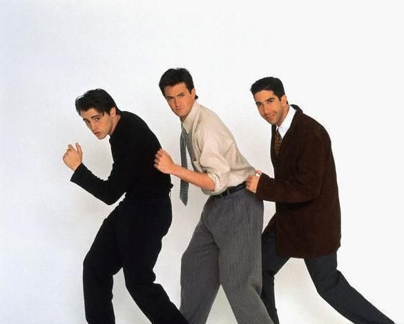 Matt LeBlanc, Matthew Perry & David Schwimmer (In the jungle, the mighty jungle, the lion sleeps toniiight!!...)