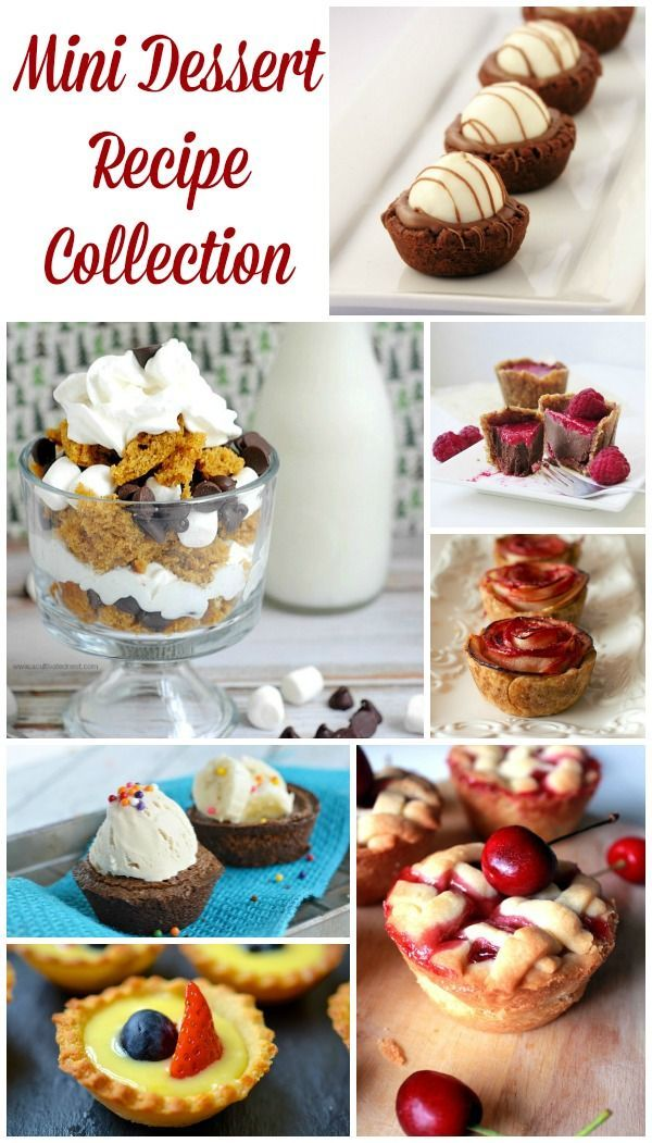 Mini Dessert Recipes - perfect for bridal showers, baby showers, birthday parties and more. There are so many dessert recipes I want to try on this list!