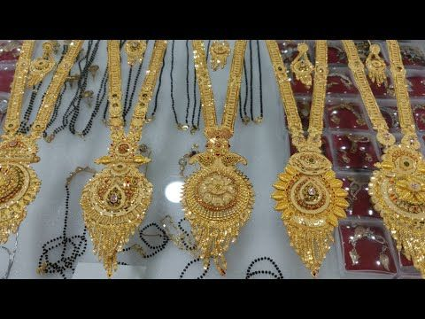 Nice Hand Work Long Haram Collection The Jewellary Place Whatsapp 8140960260 1gram Gold Plate In 2020 Dubai Gold Jewelry Gold Earrings Wedding Gold Jewelry Fashion