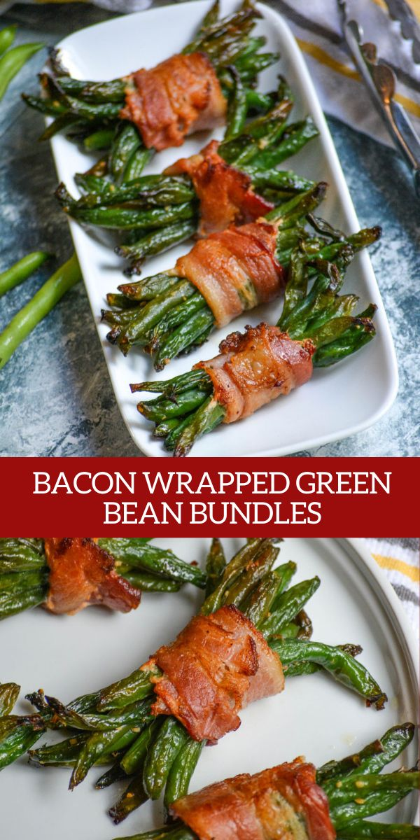 Skip the tired green bean casserole this holiday season and serve these delicious bacon wrapped green bean bundles instead. Your guests will adore the flavor packed bacon green been bundles. The perfect side dish to dress up any meal! Bacon Wrapped Green Beans, Green Beans With Bacon, Grilled Green Beans, Green Bean Casserole, Side Dish Recipes, Vegetable Recipes, Green Bean Bundles, Cooking Recipes, Healthy Recipes