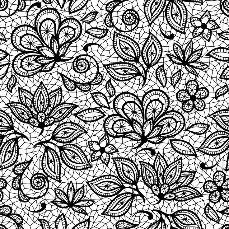 Stock vector of 'Old lace seamless pattern, ornamental flowers. Vector texture.'