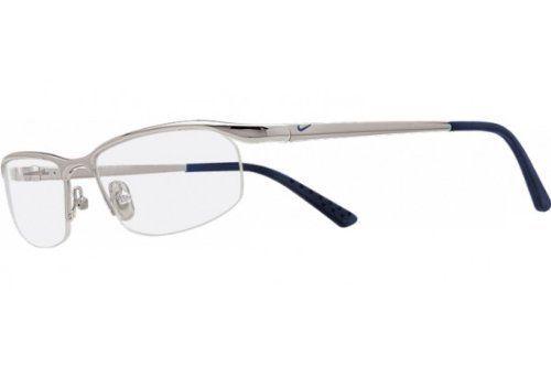 Nike 6037 Eyeglasses (23) Shiny Chrome, 51mm by Nike.