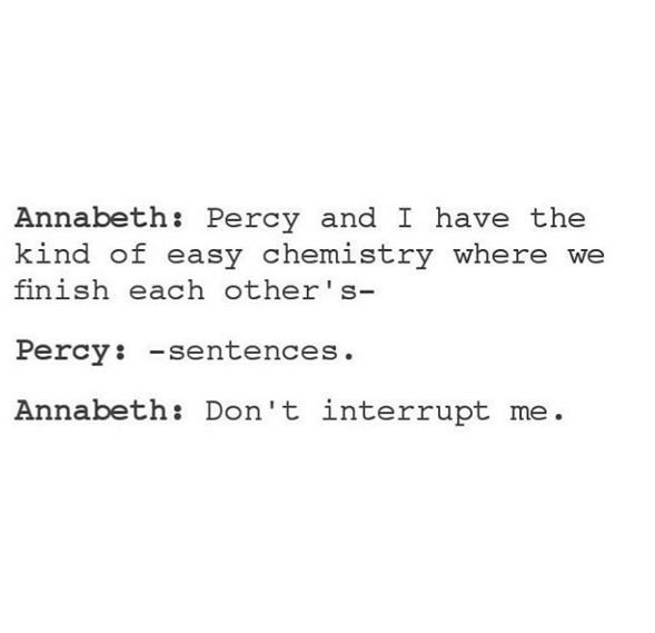#PJO #HoO #Percabeth Percy and Annabeth finishing each other's sentences