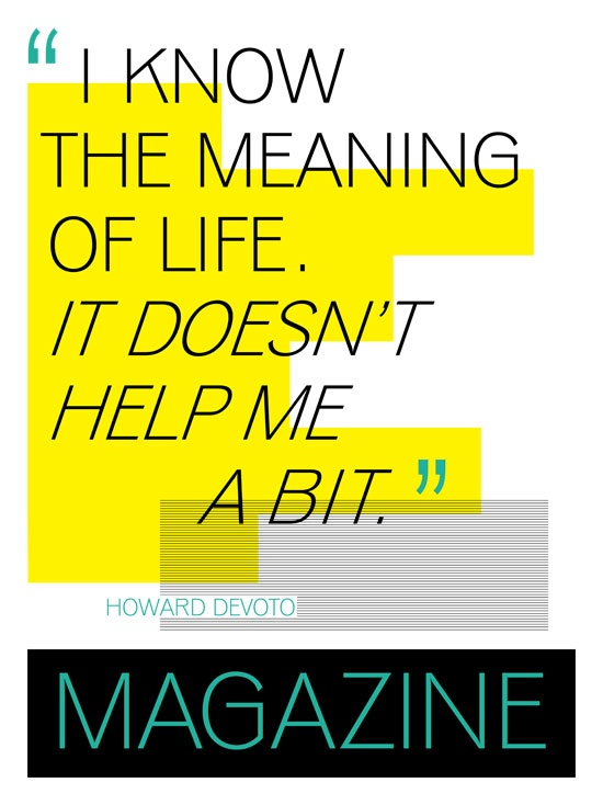 Magazine Devoto lyrics poster