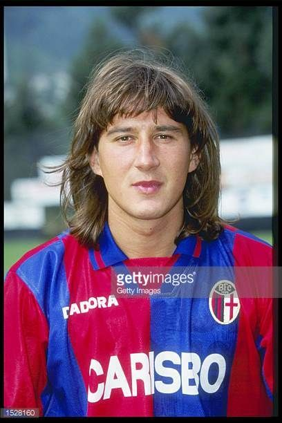 A portrait of Cristiano Scapolo of Bologna taken during the club photocall Mandatory Credit Allsport UK
