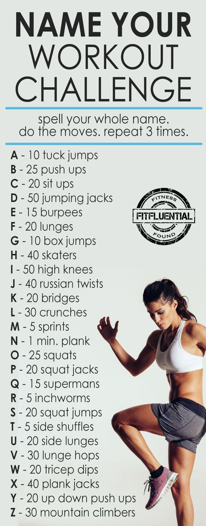 """Name"" Your workout challenge from FitFluential..."
