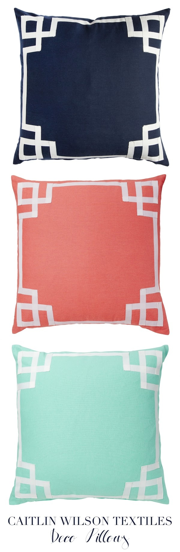caitlin wilson design: style files: The Deco Pillows are Back in Town!