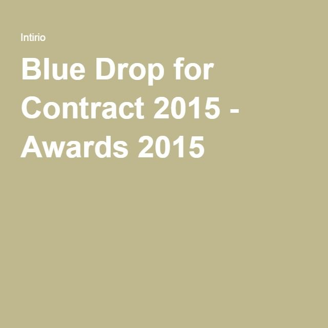 Blue Drop for Contract 2015 - Awards 2015
