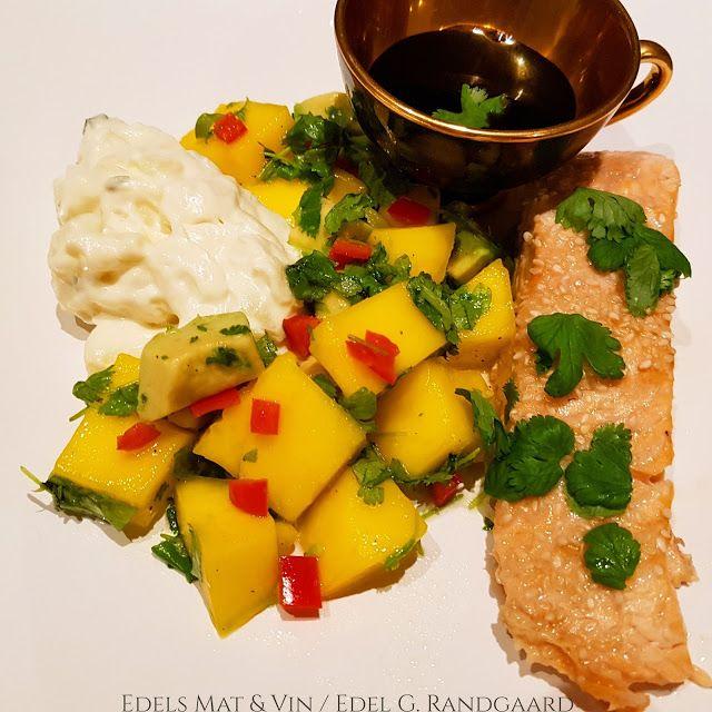 Edels Mat & Vin: Sesambakt laks med spicy mango og potetsalat ✿