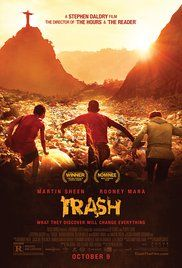 Set in Brazil, three kids who make a discovery in a garbage dump soon find themselves running from the cops and trying to right a terrible wrong.