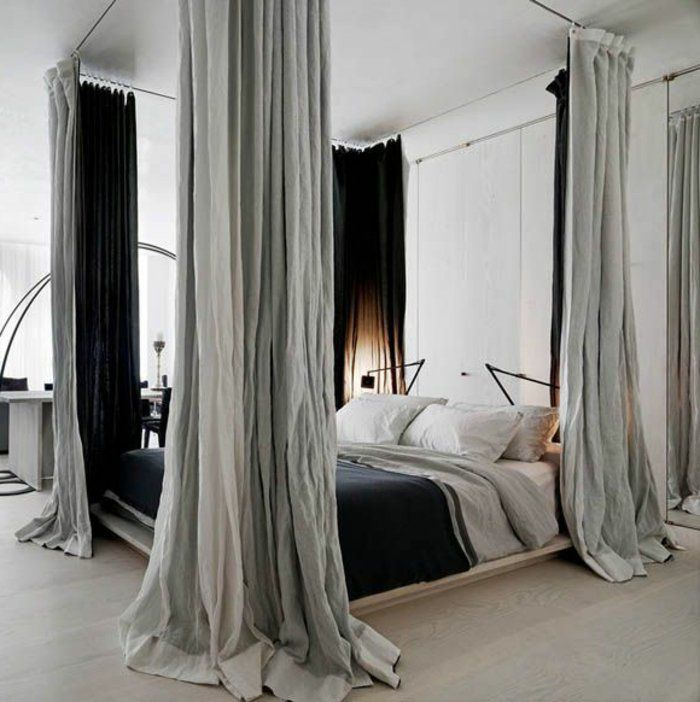 1000 Ideas About Curtains Around Bed On Pinterest