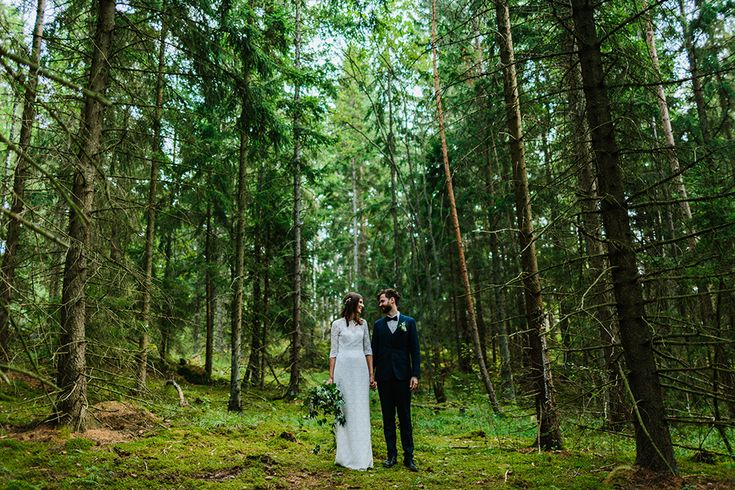bröllopsfotgrafi skog