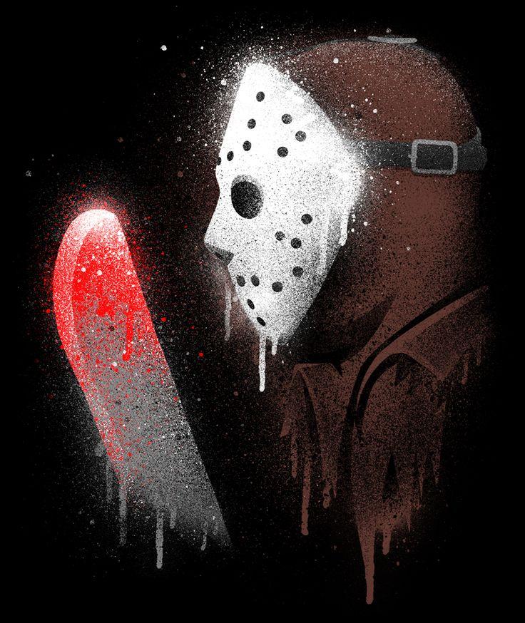These horror icon graffiti shirts by Punksthetic... - Broke Horror Fan