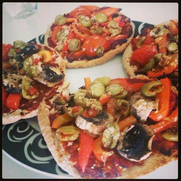 Pita-pizza vegan