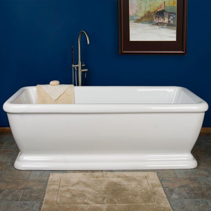 "Less expensive version of my waterworks empire dream tub. 69"" Serafini Freestanding Acrylic Tub"