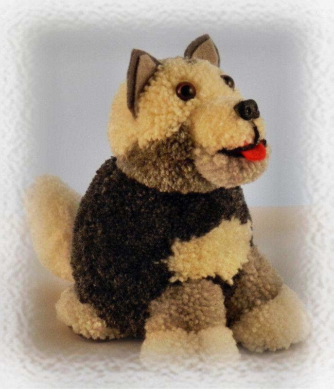 113 best dog pom poms images on pinterest pom pom crafts for Pom pom puppy craft