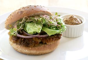 Try Aine McAteer's Sizzling Seitan Burger recipe, and your friends will never know they're not eating meat!