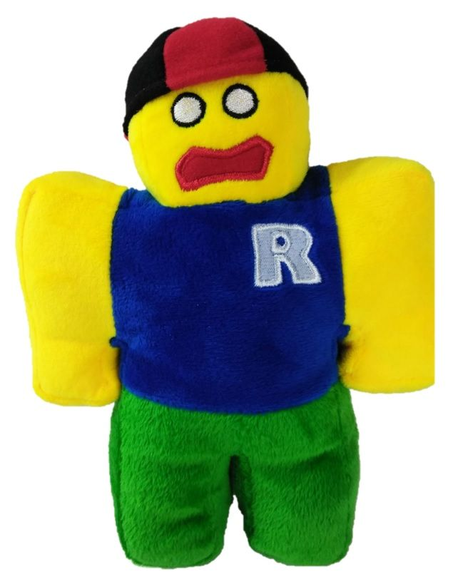Plushy Roblox Noob Toy Plushie With Removable Red Hat Buy It Only