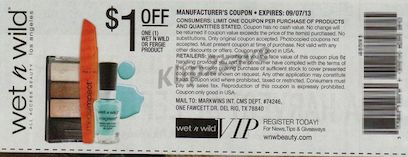 Hot $1/1 Wet N Wild Coupon from the 8/25 RP = FREE at Many Stores! - http://www.livingrichwithcoupons.com/2013/08/hot-11-wet-n-wild-coupon-from-the-825-rp-free-at-many-stores-done.html