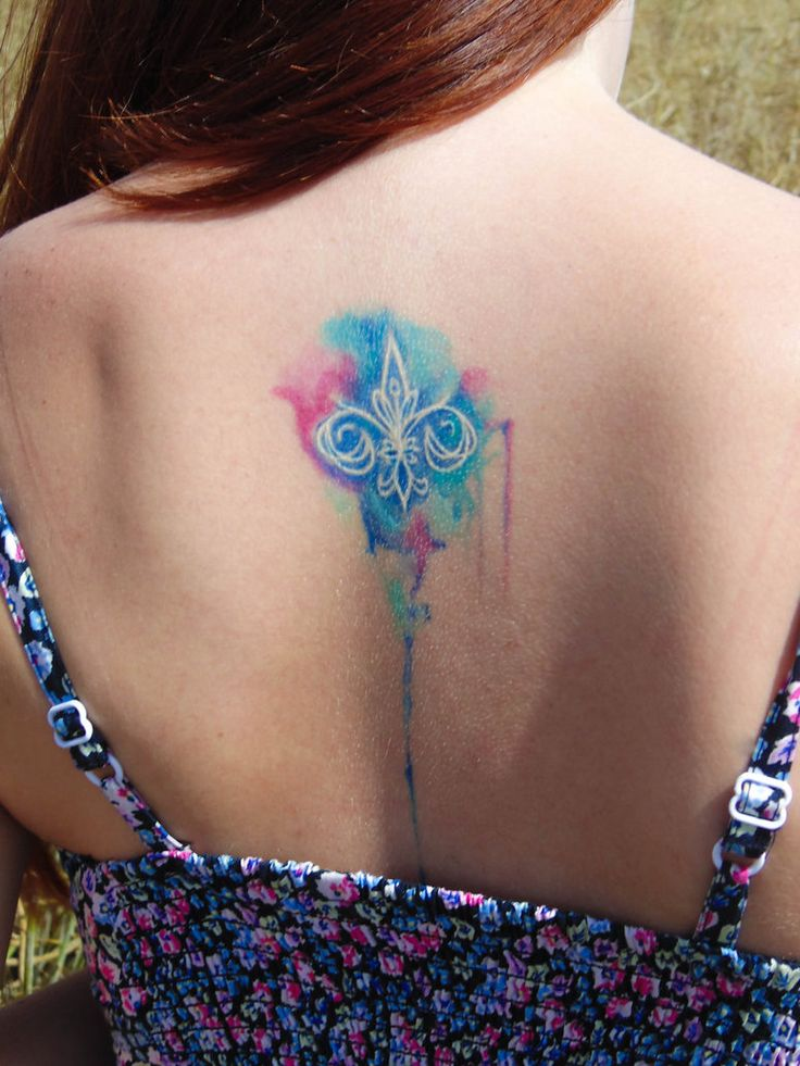 Watercolor Fleur de lis tattoo by zsoofi95 on DeviantArt